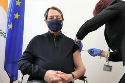 Завтра президент Кипра торжественно получит третью дозу вакцины от коронавируса