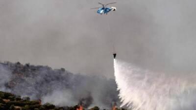 Пожар в труднодоступном районе Пафоса