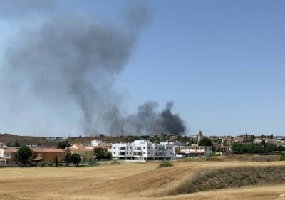 Никосия: большой пожар в Антуполисе