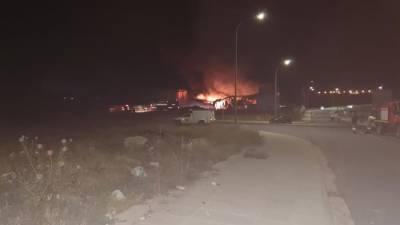 Пожар на заводе в промышленной зоне в Пафосе нанес серьезный ущерб