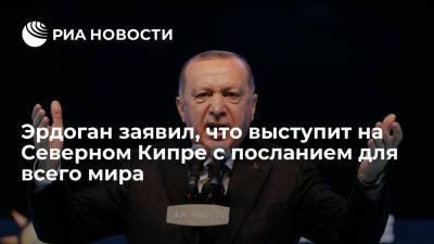 Эрдоган заявил, что выступит на Северном Кипре с посланием для всего мира