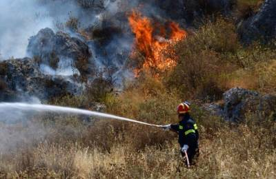 Лесной пожар угрожает монастырю в Аналионтас-Кампиа