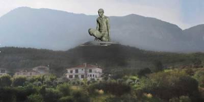 На Кипре построят статую Благородный крестьянин высотой 40 метров - в сети смеются, спутали колено с половым органом, фото - ТЕЛЕГРАФ