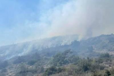 В Лимассоле сильный пожар