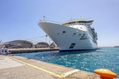 В порт Лимассола зашел роскошный круизный лайнер
