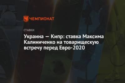 Украина — Кипр: ставка Максима Калиниченко на товарищескую встречу перед Евро-2020