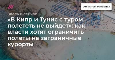 «В Кипр и Тунис с туром полететь не выйдет»: как власти хотят ограничить полеты на заграничные курорты