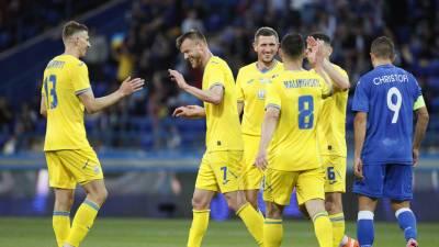 Сборная Украины по футболу разгромила Кипр в контрольном матче