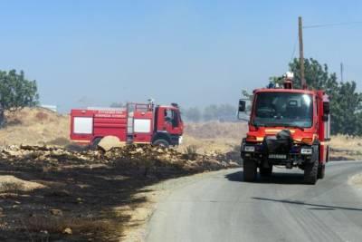 Лесной пожар возле Корноса