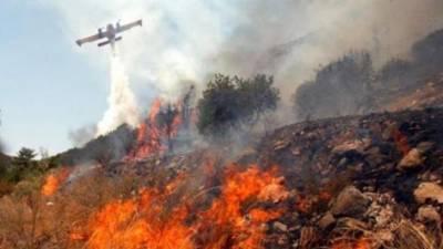Большой пожар в селе Пачна
