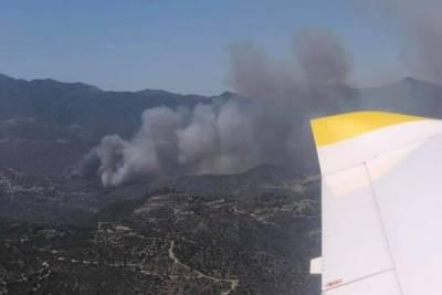 В деревнях к востоку от Лимассола бушует сильнейший пожар