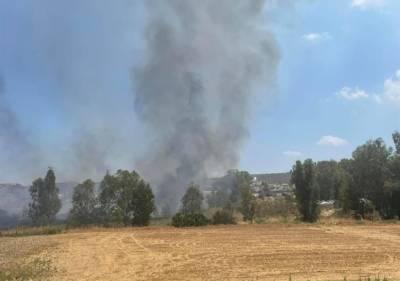 Пожар в районе Нисоу