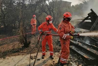 Греция охвачена огнем. В борьбе со стихией принимает участие кипрская команда из 40 человек