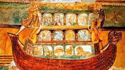 Древние художники изображали Ноев Ковчег в виде коробки с ножками. Ученые выяснили, что сбивало их с толку