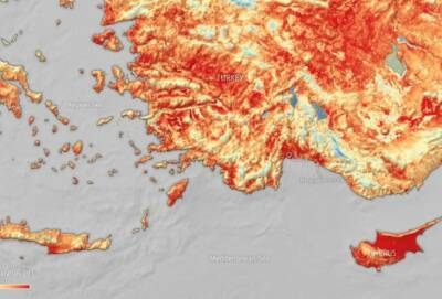 Насколько горяча земная поверхность на Кипре? До +50 градусов
