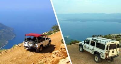Туристы улетели с обрыва в море на внедорожнике на Кипре