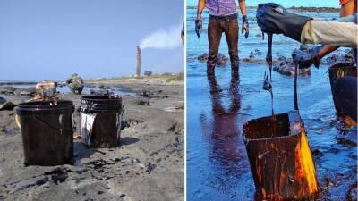 Огромное пятно нефти течет от Сирии в сторону Кипра