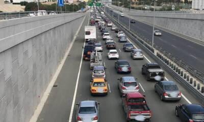 Пробка на трассе Никосия-Лимассол из-за трех аварий