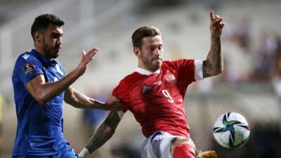 Тюкавин заменил Смолова в матче отбора ЧМ-2022 Кипр — Россия